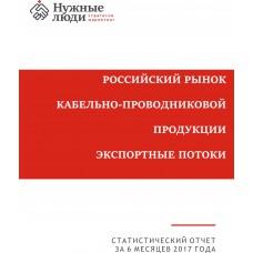 Кабели и провода - 1-е полугодие 2017 г. Экспорт из РФ.