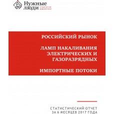 Лампы - 1-е полугодие 2017 г. Импорт в РФ