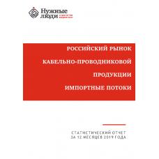 Кабели и провода - 2019 г. Импорт в РФ.