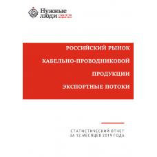 Кабели и провода - 2019. Экспорт из РФ.