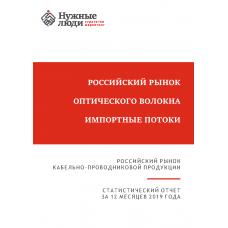 Оптическое волокно - 2019 г. Импорт в РФ.