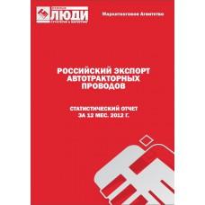 Автомобильные (автотракторные) провода - 2012. Экспорт из РФ.