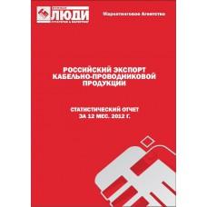 Кабели и провода - 2012. Экспорт из РФ.
